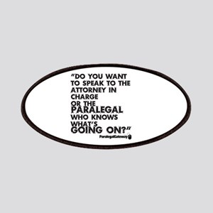 Paralegal In Charge [Text Bla Patches